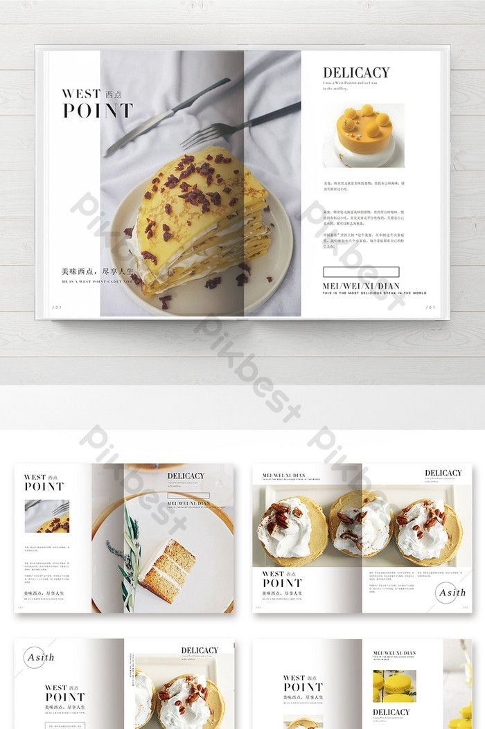 Simple Style Bread And Pastry Brochure Psd Free Download Pikbest Cookbook Design Food Menu Design Food Design