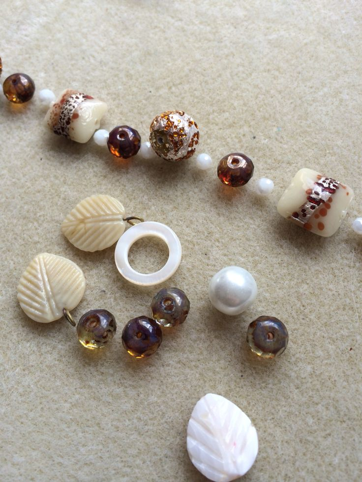 Mother of pearl, fresh water pearl and lampwork beads #design #unique #create #make #GGJewellery
