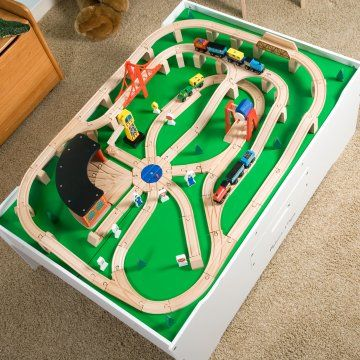 16 best train set images on Pinterest | Wooden train, Toy trains and ...