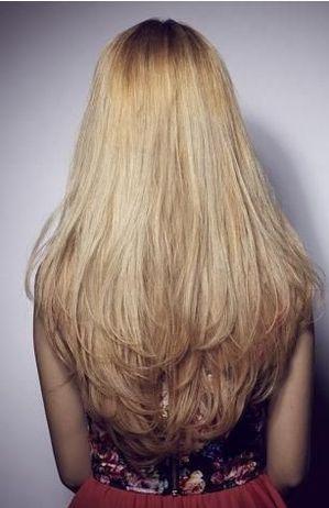 Long Blonde Locks Love The Long Layered U Shape Tame The Mane