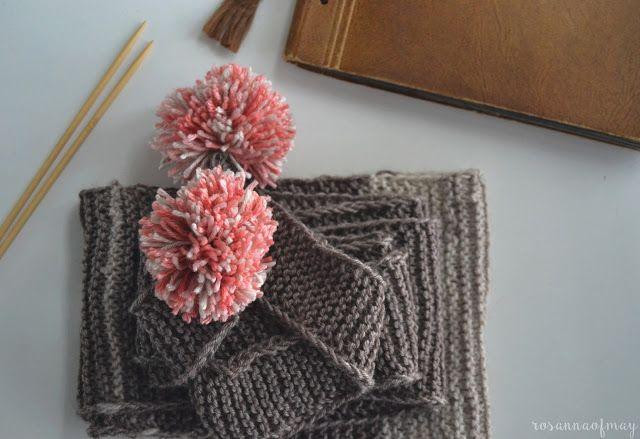 pompom scarf