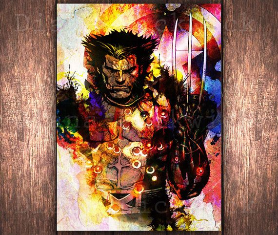 Hey, I found this really awesome Etsy listing at https://www.etsy.com/listing/222027073/superhero-wolverine-poster-marvel-comics