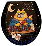 Poker Cat Toilet Seat - Standard (Free Shipping Today!)