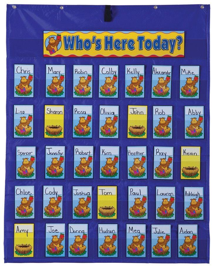 Design Of Classroom Charts : Attendance multiuse pocket chart ideal for classroom