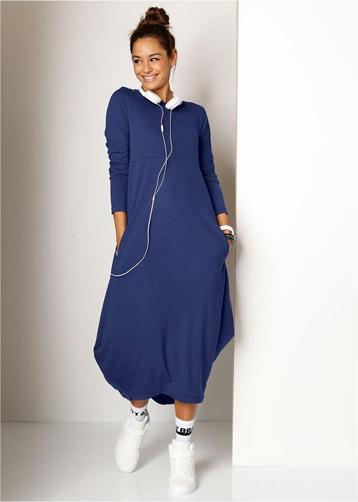 Трикотажное платье макси, RAINBOW, ночная синь