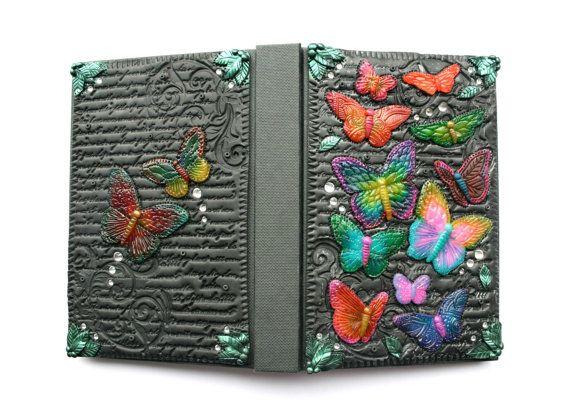 Butterfly Journal  Hand-Sculpted Polymer Clay door VelvetoriumOnline