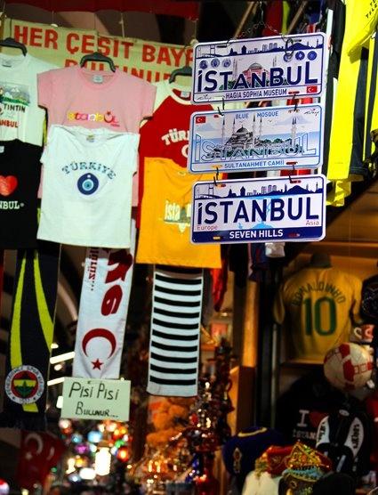 Tshirts, scarves, custom plates from Gran Bazaar, Kapalicarsi, Istanbul