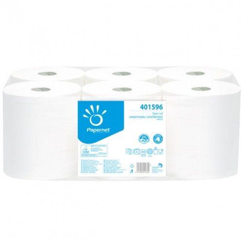 Rola prosop hartie maxi ambalata la bax de 6 role. Se foloseste cu sau fara dispenserele profesionale in spatii sanitare sau bucatarii.