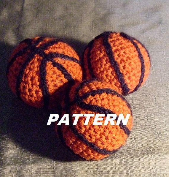 PATTERN Crocheted Mini Basketball by BucketFullofMemories on Etsy, $2.99