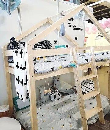 Lit maison à étage gribouille ta chambre différentes dimensions www moncabanoncreatif com
