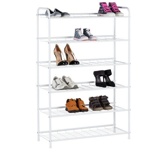 Buy HOME 6 Tier White Shoe Rack at Argos.co.uk, visit Argos.co.uk to shop online for Shoe storage, Storage, Home and garden