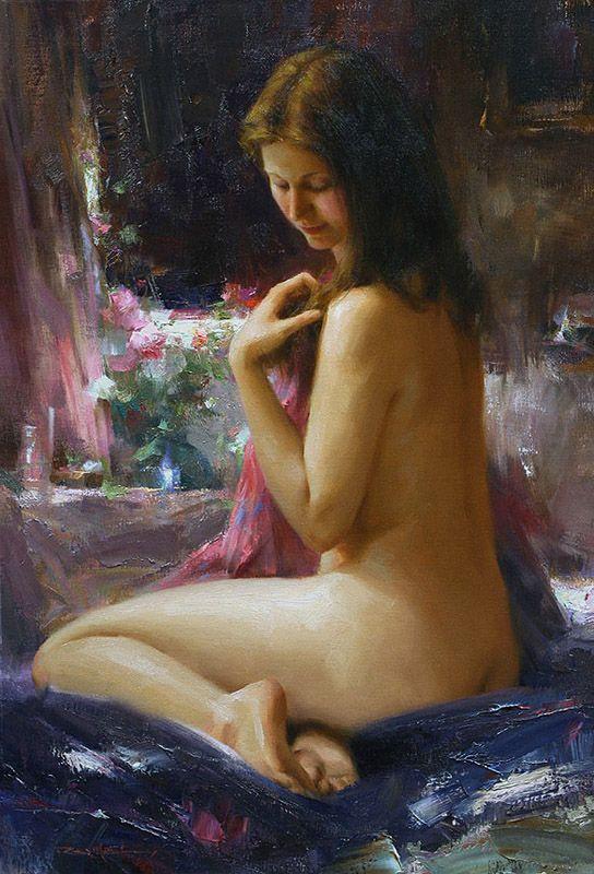 """""""Seated Nude"""" by Romel de la Torre"""