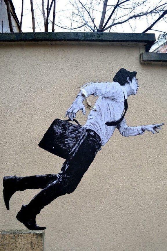 Street art in France by Levalet