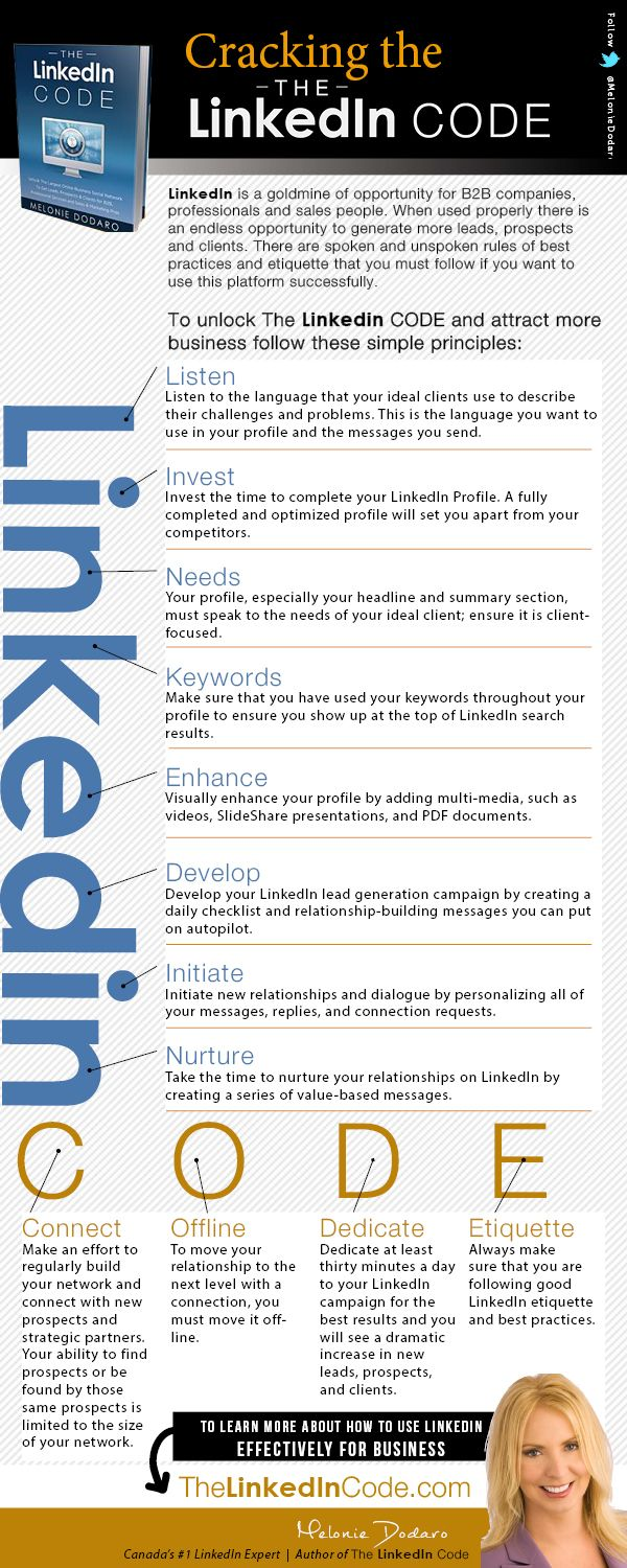 496 best social media linkedin images on pinterest social media cracking the linkedin code infographic via meloniedodaro of top dog social media great tips malvernweather Image collections