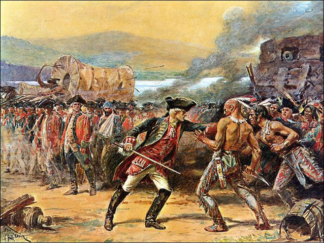 the conflict between the british and the french in colonising america Road to revolution 1760-1775 i won during the long conflict in north america, the british now had these former french colonies included thousands of indians.