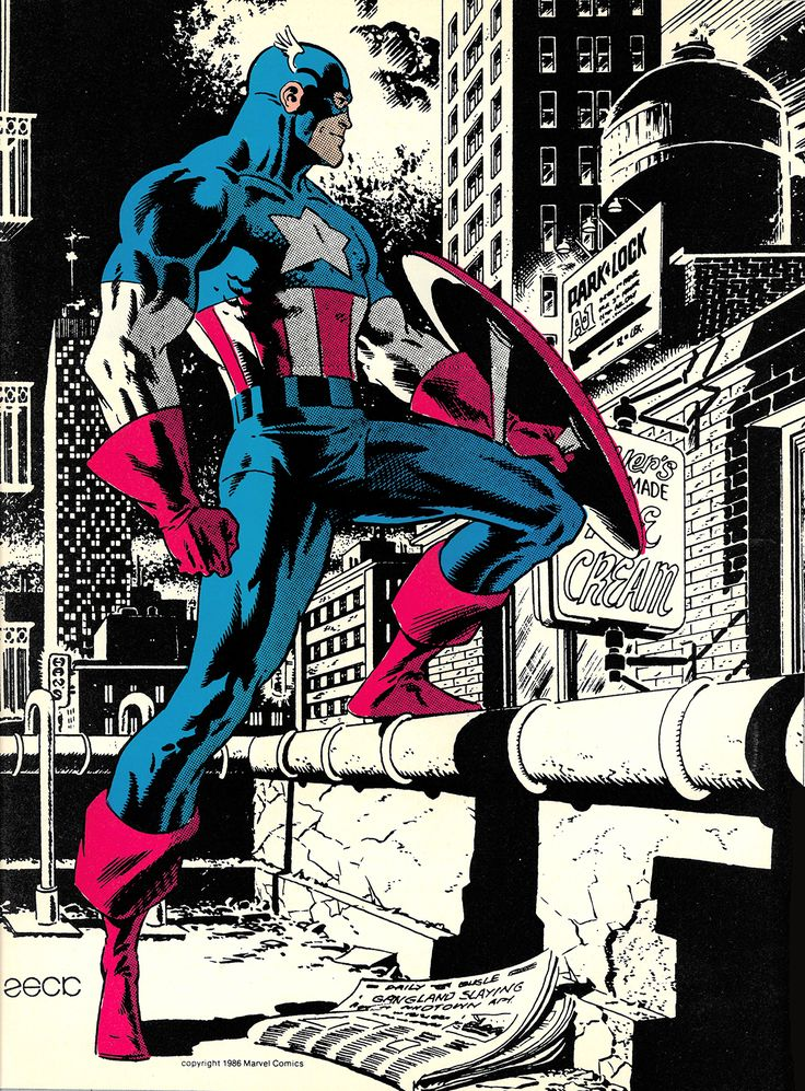 The Marvel Project — Captain America by Mike Zeck from Comics Feature...