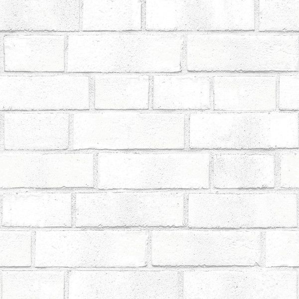 Tempaper Brick White Textured Wallpaper (8.140 RUB) ❤ liked on Polyvore featuring home, home decor, wallpaper, white, white home decor, temporary wallpaper, tempaper, tempaper wallpaper and white home accessories