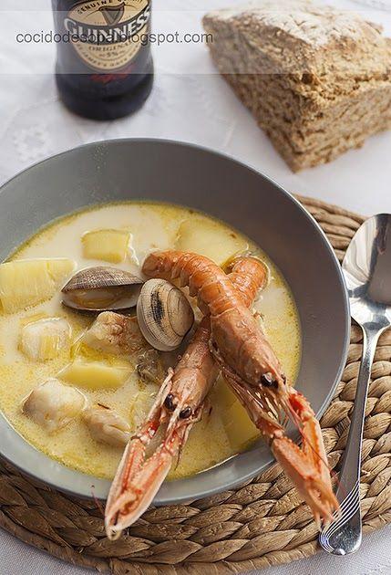 Recetas de cocina sencillas, sin complicaciones, españolas e internacionales. Chowder Soup, Irish, Food And Drink, Favorite Recipes, Ethnic Recipes, Recipes, World, Soups, Clams