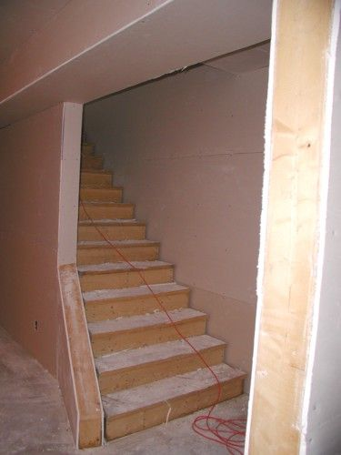 Basement Stairs with Flare