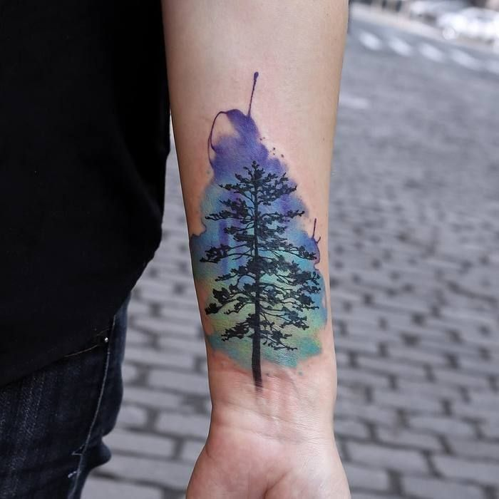25 Awesome Watercolor Tree Tattoo Ideas Tattoos For Guys
