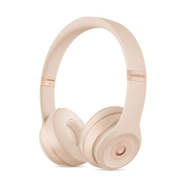 Beats Solo3 Wireless On-Ear Headphones Matte Silver (17.270 RUB) ❤ liked on Polyvore featuring accessories and tech accessories