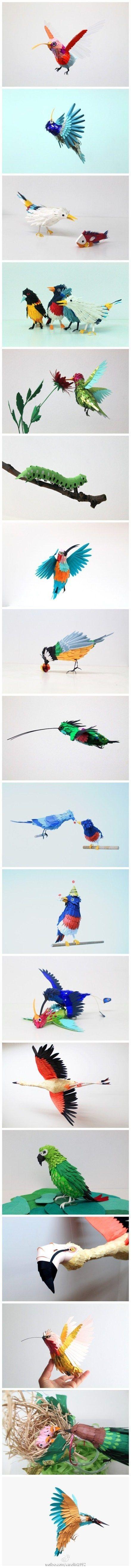Colombian artist Diana Beltran Herrera and her paper art works.