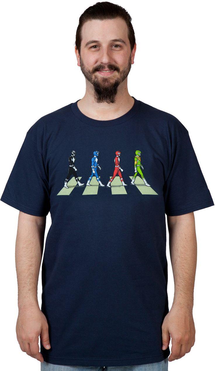 Power Rangers Abbey Road T-Shirt