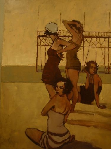 """Oh, you know. Just...hanging out at the beach.  """"Beach Music"""" Michael Carson: Beaches, Beach Music, Contemporary Artists, Michaelcarson, Illustration, Michael Carson, Oil Painting"""