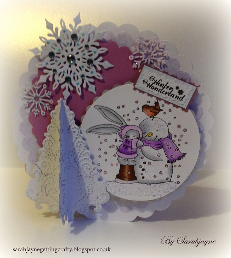 Crafters Companion Bebunni Christmas Stamp & sentiment. SN pens..IG1,2,3, EB2,3,4. SN Pencils.. 082,078,080,096,017,024. Snowflake die'sire die & O'christmas tree die. Colorcore cardstock, verse writer, Collall Decoupage, tacky & all purpose glues, Neehah