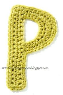 Crochet Instructions for alphabet letters A-Z