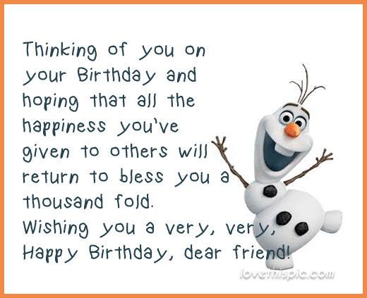 Olaf Happy Birthday Quote                                                                                                                                                                                 More