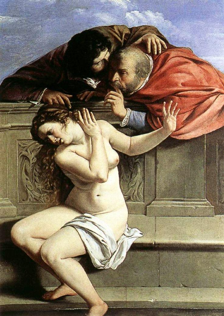 #Susanna e i #vecchioni, 1610, #Artemisia #Gentileschi collezione Schönborn, Pommersfelden