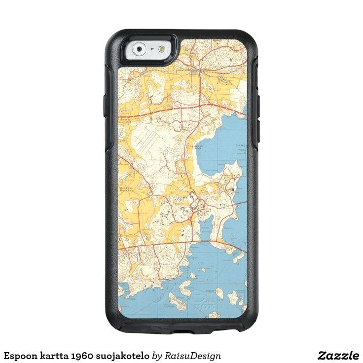 Espoon kartta 1960 suojakotelo OtterBox iPhone 6/6s case