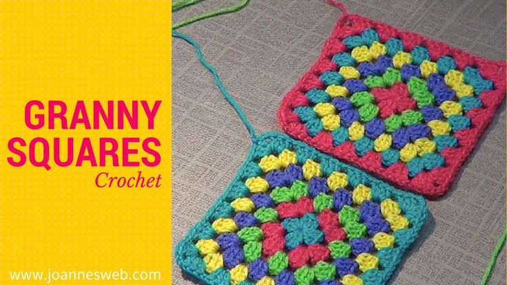 www.joannesweb.com A video tutorial on how to crochet basic granny squares. The base to help you crochet a large variety of projects!