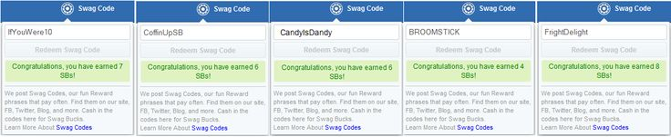 Thank you #ezFollowers!! http://ezswag.com had yet another successful #SwagBucks #SwagCode Extravaganza. All five (5) swag codes for #Halloween Follween were posted on a dime for #Australia #AU #Canada #CA #Ireland #IE #UnitedKingdom #UK and #UnitedStates #USA. Thank you for joining the #ezCommunity. Have fun earning EZ!! #ezswag