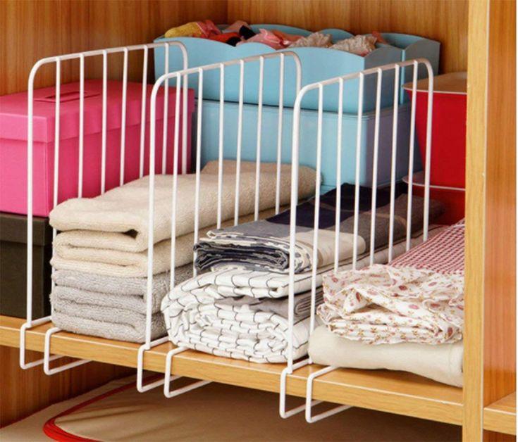 Buy MosQuick® Set of 2 Closet Shelf organiser, Shelf Dividers for ...