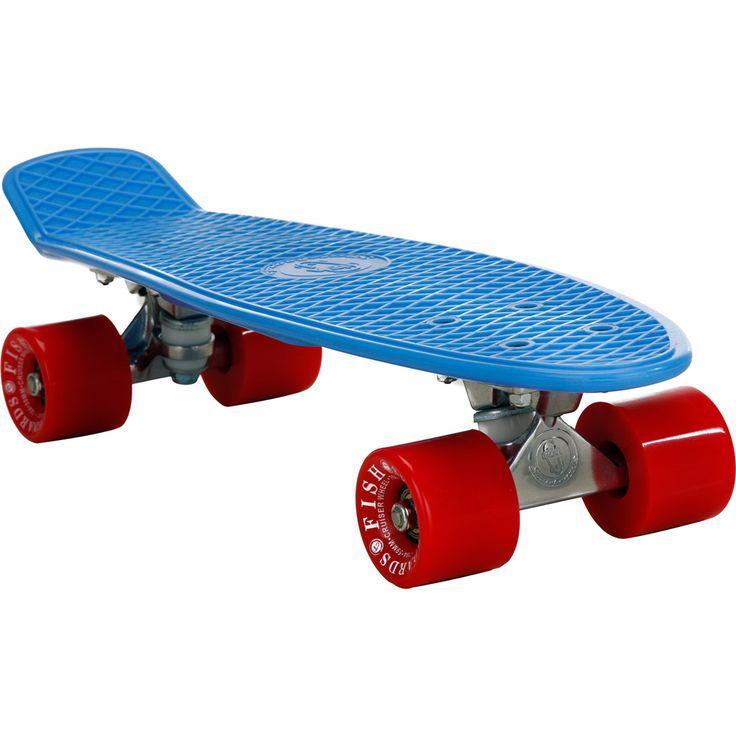 Skate Fish Skateboards Cruiser Azul e Vermelho 22'' - Submarino.com.br