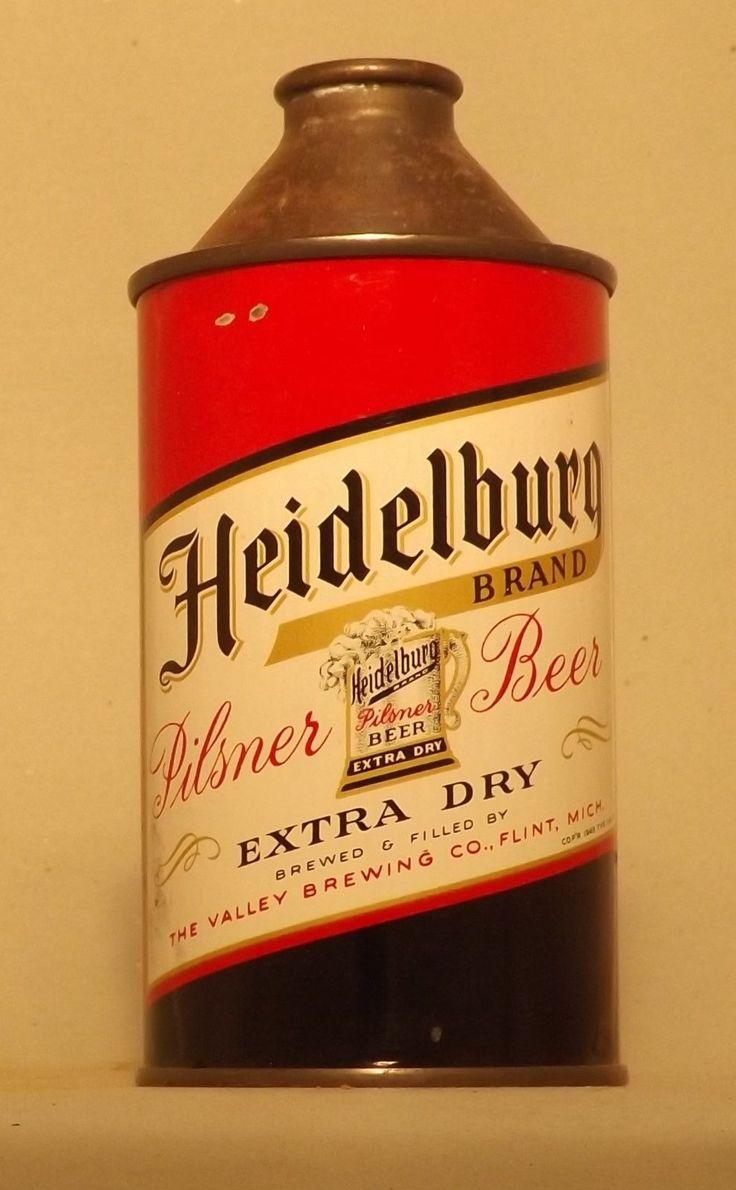 Heidelberg Cone Top Beer Can, Flint, MI, Cone-u-copia Sale ! | eBay