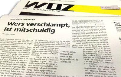 Susan Boos in der WOZ über «Wahlen und Wählerschaft in der Schweiz», hrsg. v. Markus Freitag und Adrian Vatter