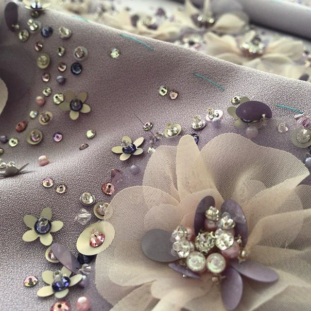 Good morning details!! #lenour #handmade #embroidery #details #flower #purple…