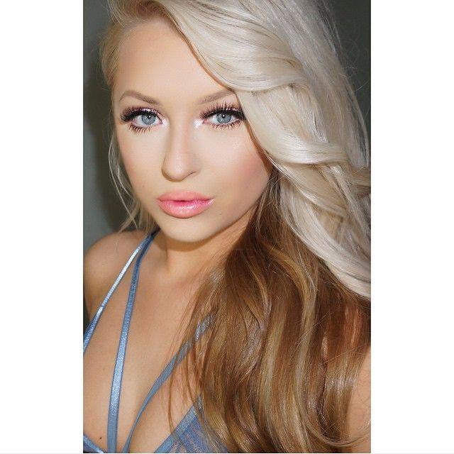 Platinum blond + Caramel brown underneath #hair #color