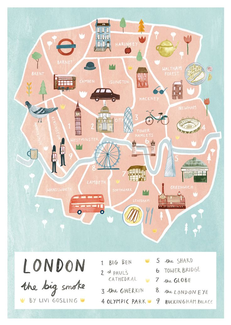 London - Livi Gosling #map #london #uk