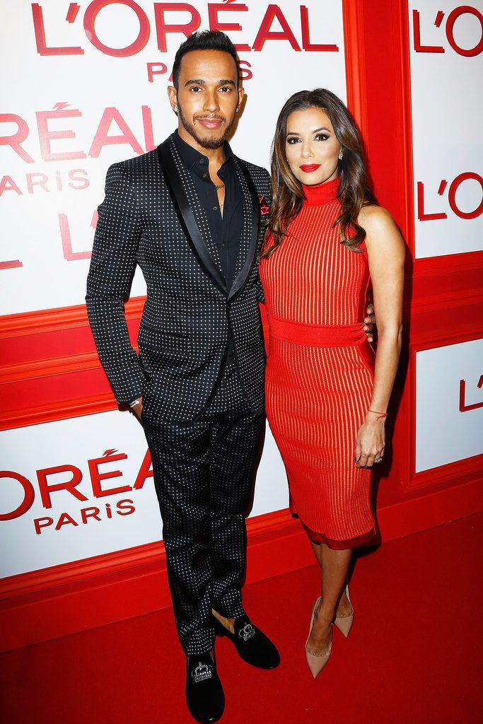 After attending Taiwanese fashion house Shiatzy Chen's show at Paris Fashion Week, Eva Longoria slipped into a sheer ruby colored body-con dress for L'Oréal's Red Obsession party and stole the show.