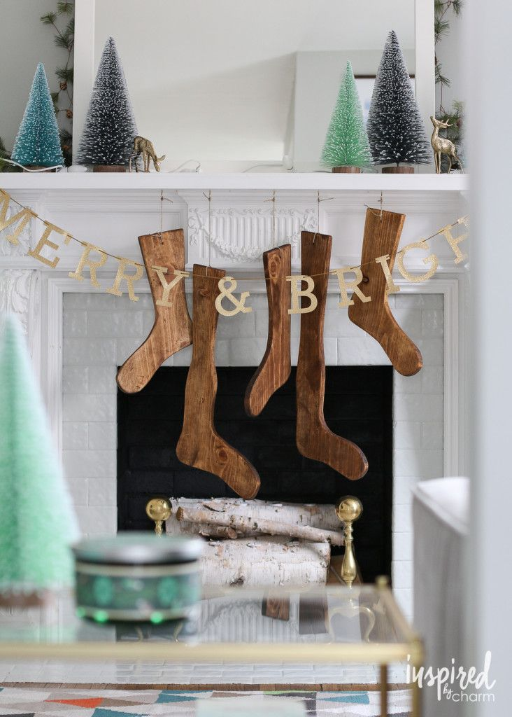 DIY Wood Stockings | inspiredbycharm.com