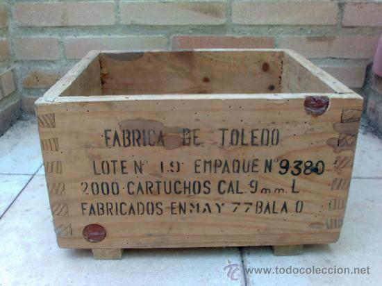 caja de madera municin mm largo