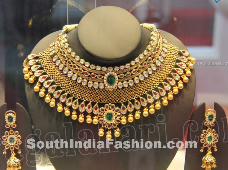 grand designer gold jewellery necklace sets - Google Search