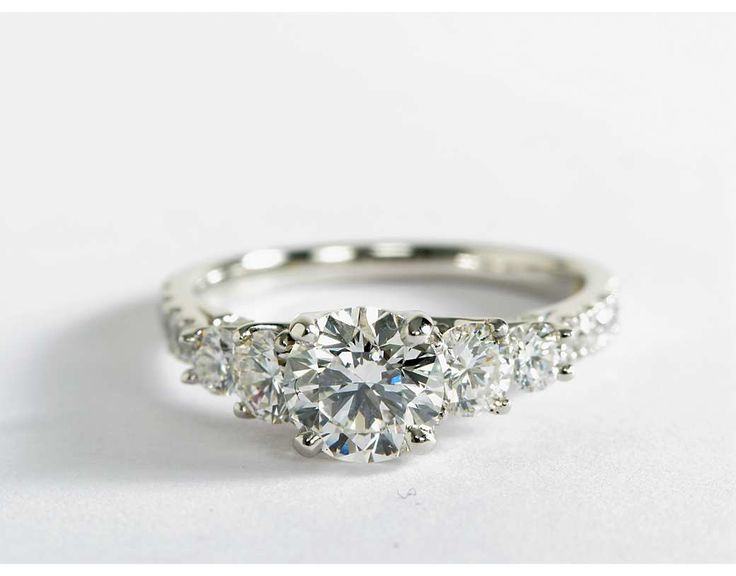 Truly Zac Posen Five-Stone Trellis Diamond Engagement Ring in Platinum (4/5 ct. tw.)