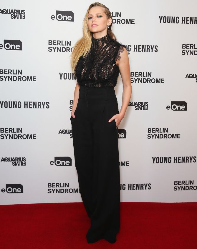 MOVIE MOMENT      Teresa Palmer strikes a pose at the Australian premiere of Berlin Syndrome on Tuesday.  Star Tracks: Tuesday, April 18, 2017