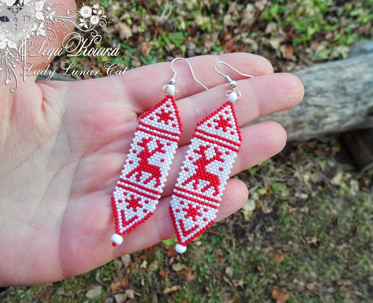 Free beading peyote pattern for Christmas Earrings | Beads Magic