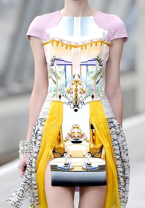 Photographic Prints - home decor meets fashion design; digital mirror print dress // Mary Katrantzou